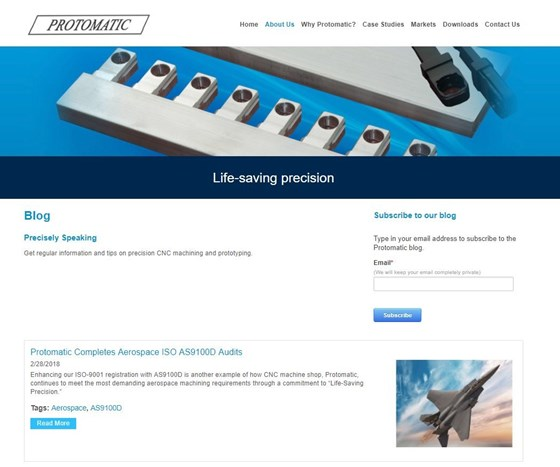 protomatic machine shop blog page