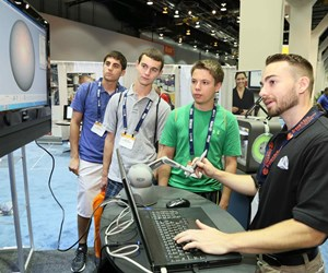 Students from Pen High School in Mishawaka, Indiana at IMTS 2018.