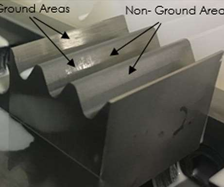 Partially ground AM Inconel 718 specimen