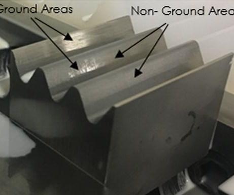 Partially ground AM Inconel 718 specimen