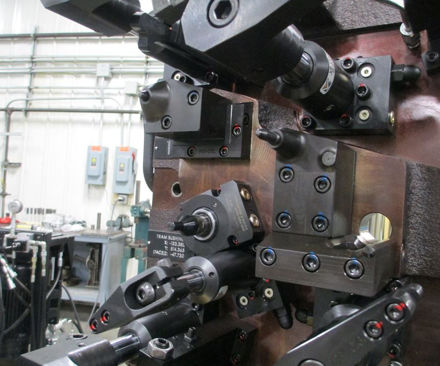This CNC machining fixture features both part-seat sensing and a part-seat confirmation switch.