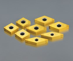 Round shapes aren't always possible for finishing operations. However, taking extra care can be rewarded with extra speed compared to other cutting tool materials. This selection of ceramic inserts includes 55-degree and 90-degree geometries for finer cutting.