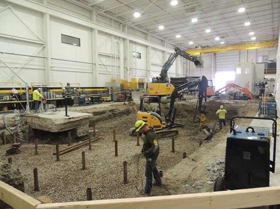 Construction on PowerMill installation