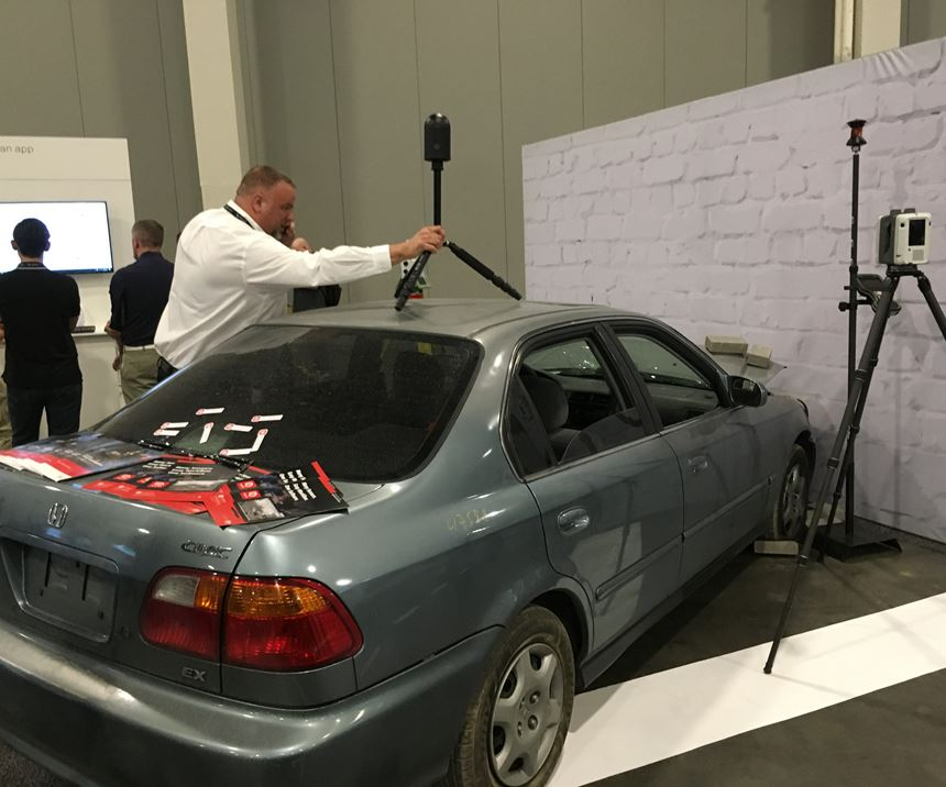 A demonstration at HxGN Live 2019 showcases how Leica laser trackers can be employed for accident investigation.