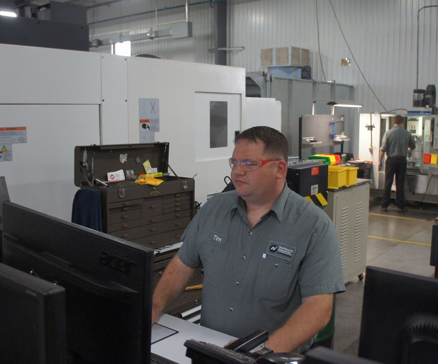 Tim Rutkowski, milling team leader at Northwood Industries, uses the predictor to determine how workflow will shift with job threat levels in the future. Read about the shop's application of PFM WHERE.