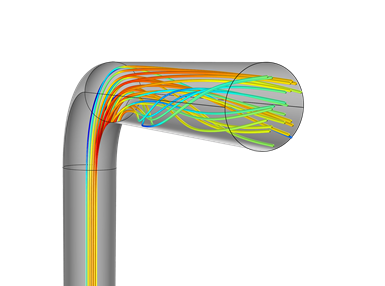 A diagram demonstrates a state of turbulent flow in a conformal cooling passage.