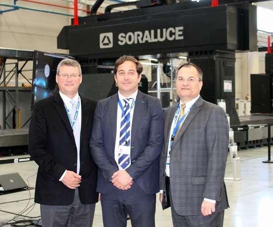 Brad Morris, President and CEO of Morris Group, Rafael Idigoras, Managing Director of SoraluceandChris Stine, Exec. Vice President of Morris Group