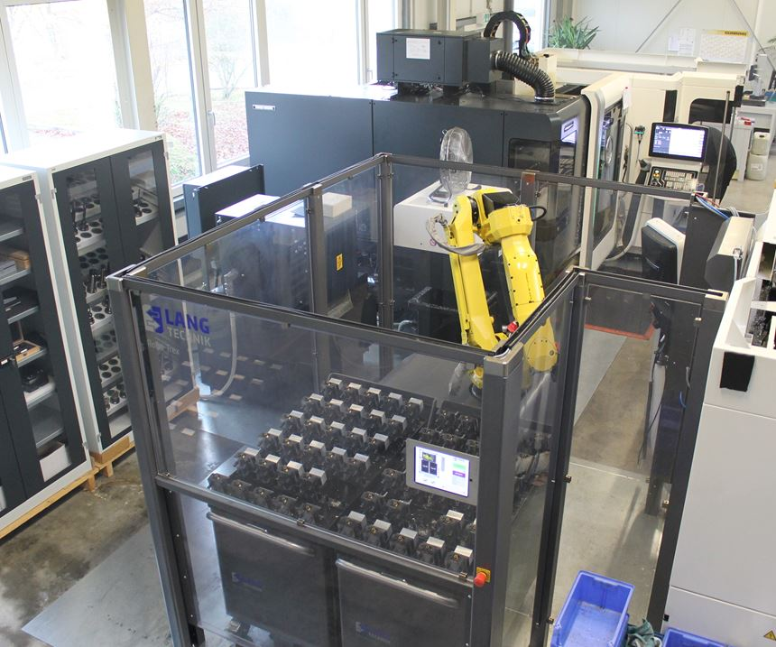 Robotrex automatic handling system at Zelos Zerspanung in Germany