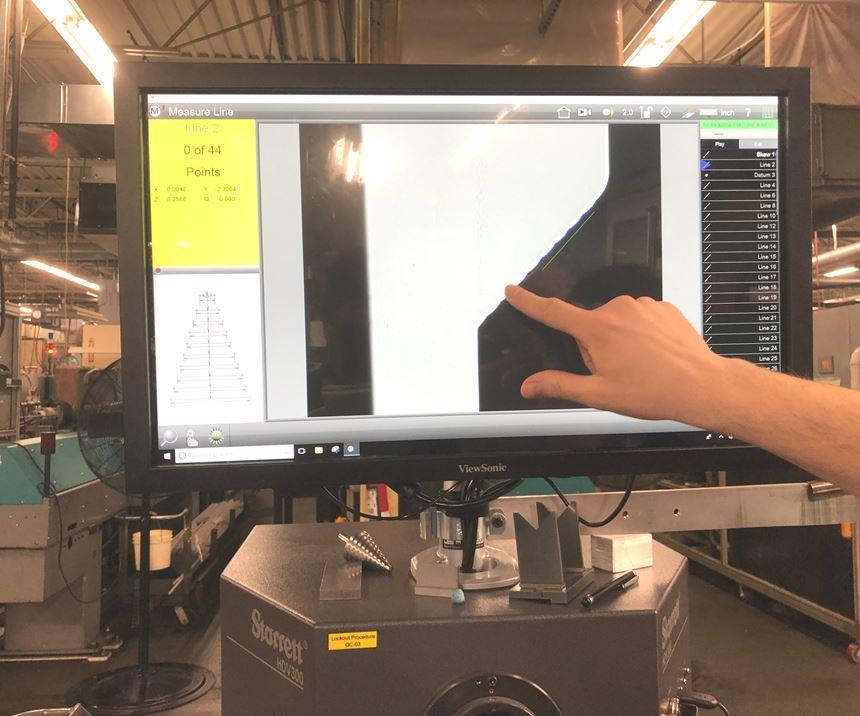 Starrett vision system for Modern Machine Shop
