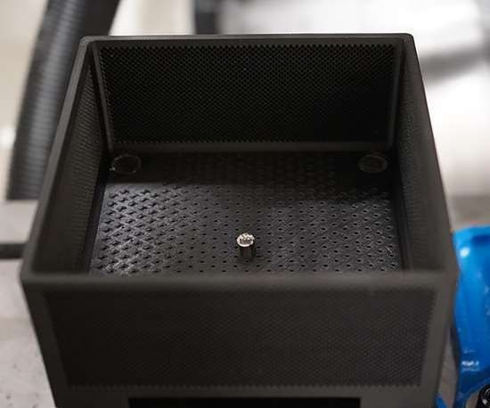3D-printed workholding box. Photo provided by Precision Metal Products for Modern Machine Shop.