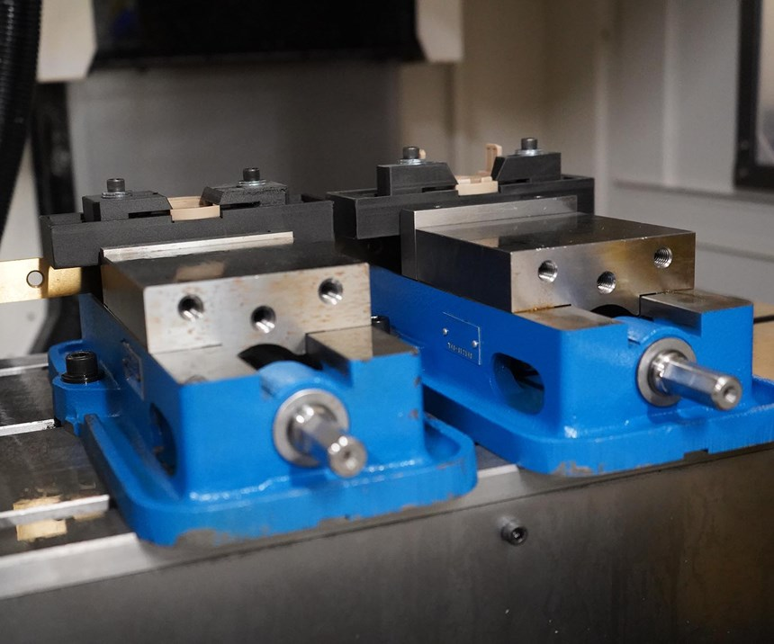 3D-printed workholding. Photo provided by Precision Metal Products for Modern Machine Shop.