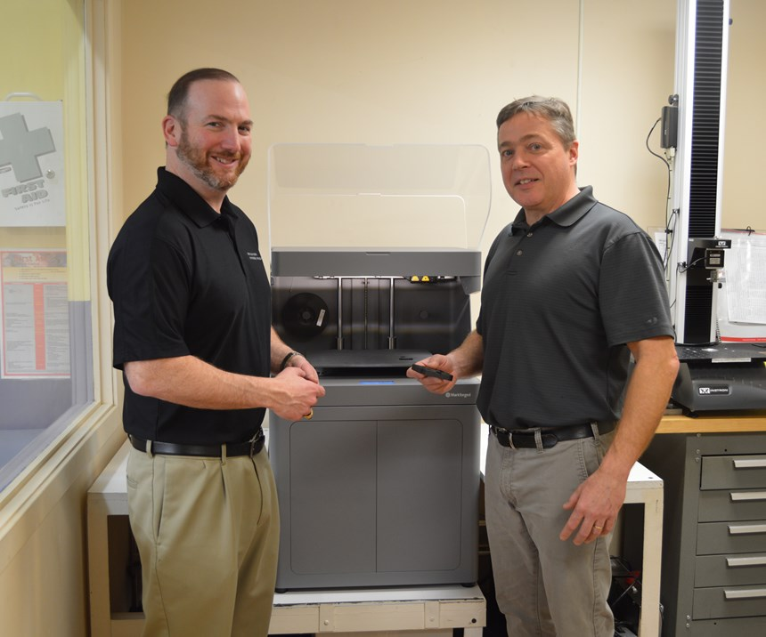 Sean O'Brien and Rich Scanlon. Photo provided by Precision Metal Products for Modern Machine Shop.