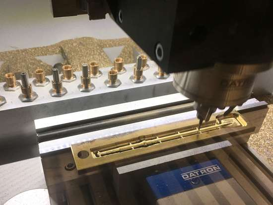 Datron Neo machining brass