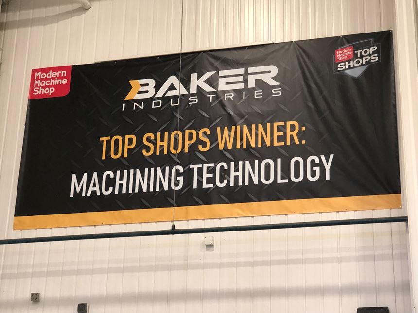 Baker Industries Top Shops winner