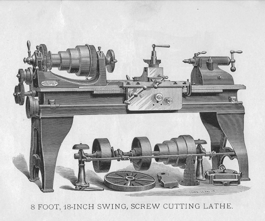 1885 lathe from Lodge, Barker & Co.
