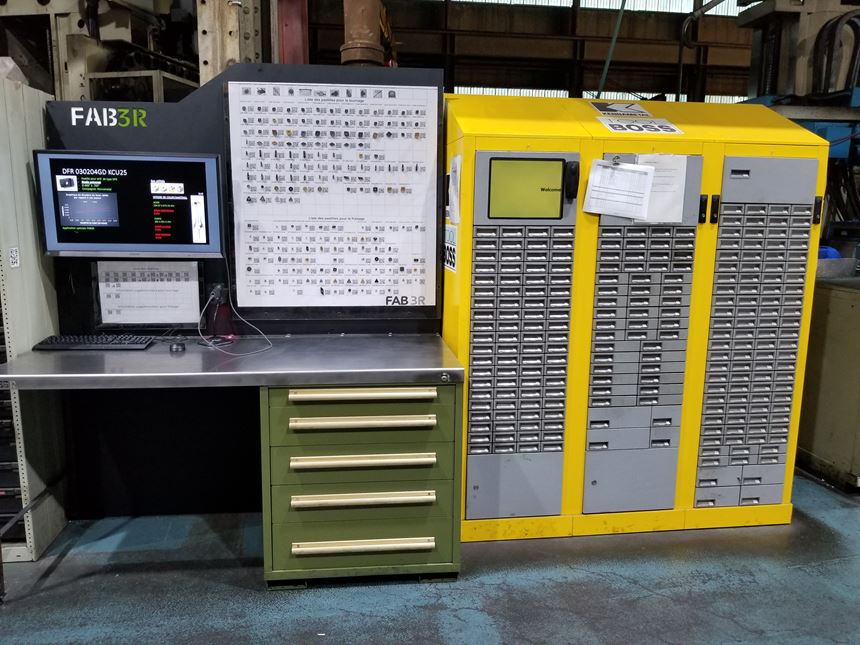 station with Kennametal ToolBoss vending machine