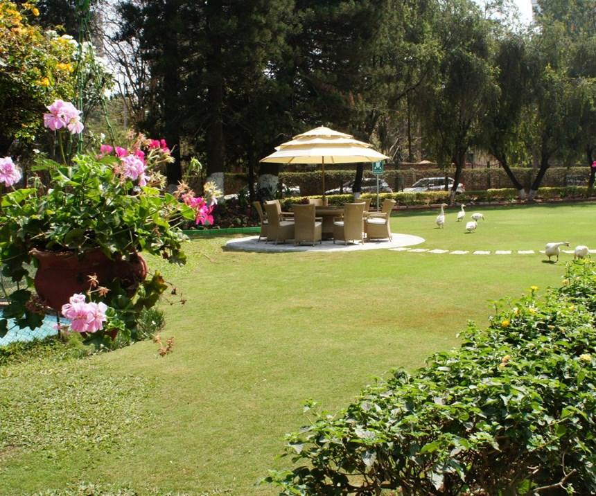 Gardens surround the plant of machine tool builder Bharat Fritz Werner.