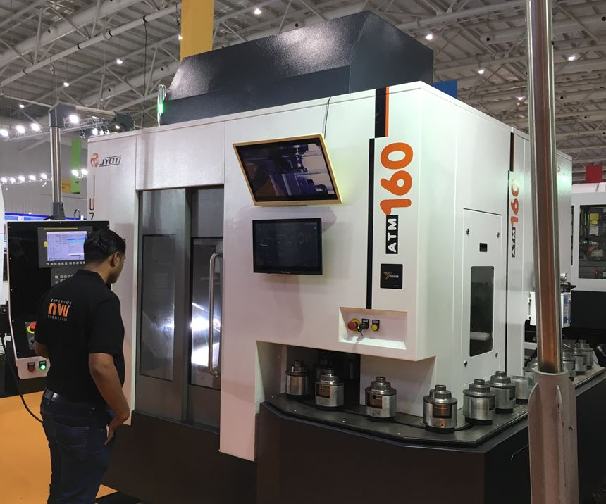 A JYOTI machine designed specifically for CNC machining automotive industry differential cases.