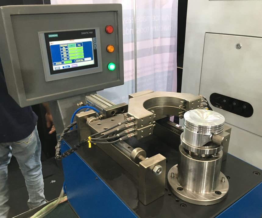 Marshall's SmartCorrect gaging station measures parts emerging from a turning center and adjusts tool offsets automatically to keep machining within tolerance.