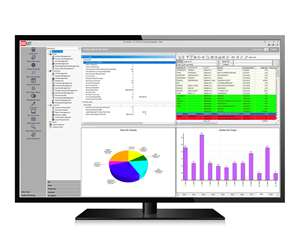 A dashboard from ECi's M1 manufacturing enterprise resource planning (ERP) software includes an overview of key action items (such as shipments that need to be invoiced); data open jobs (including such information as needed resources and due dates); and charts on both sales and quotes.