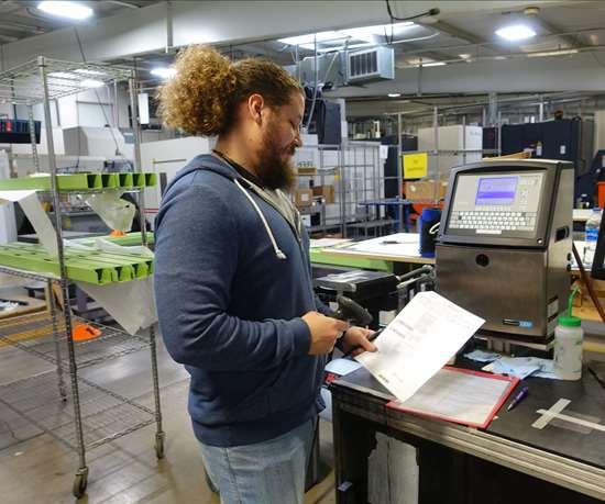 Trinity Precision shipping department