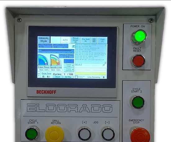Eldorado's gundrilling machine's control panel.