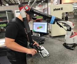 inspector using scanner