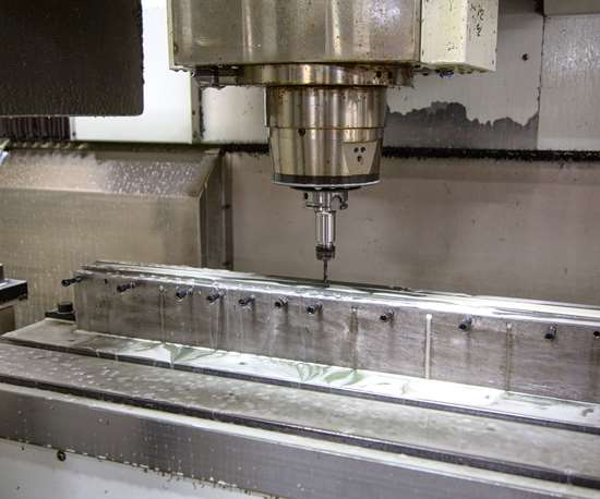 needle bar fixtured to Bertsche XiMill machining center