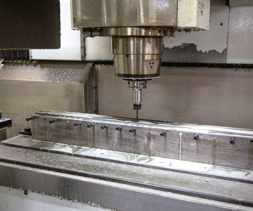 needle bar fixtured to Bertsche XiMill machining center