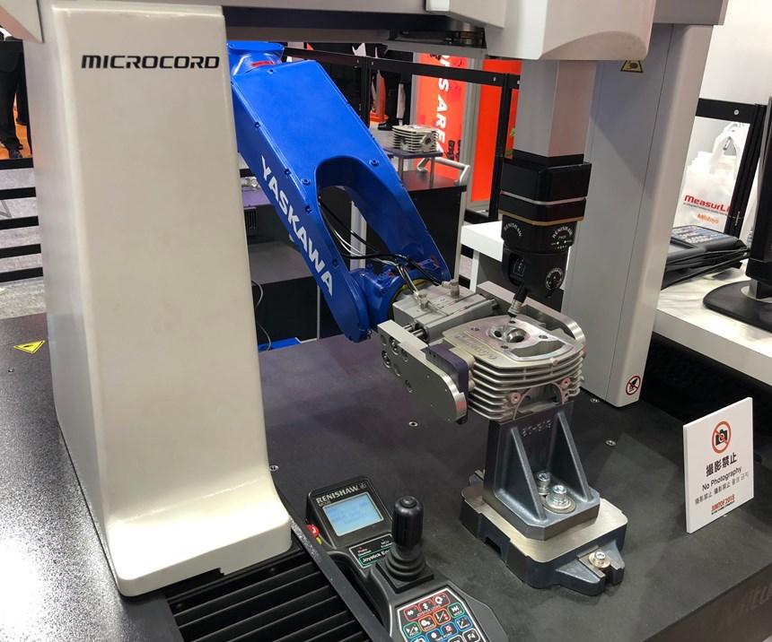 robot inspection on cmm at jimtof