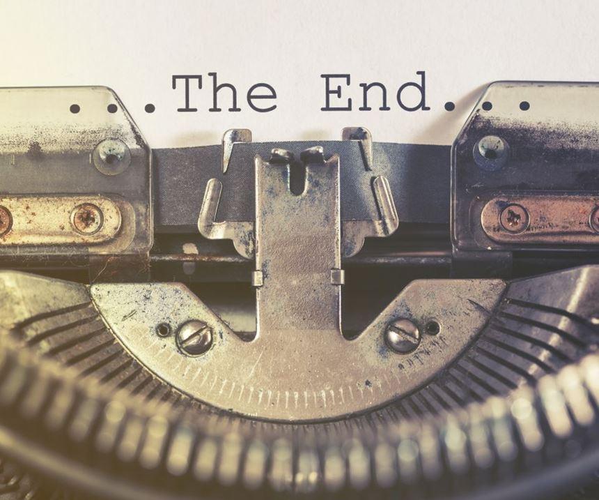 Typewriter marking Mark's final