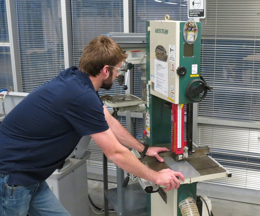 Misuse of bandsaw at Georgia Tech detected using Internet of Things