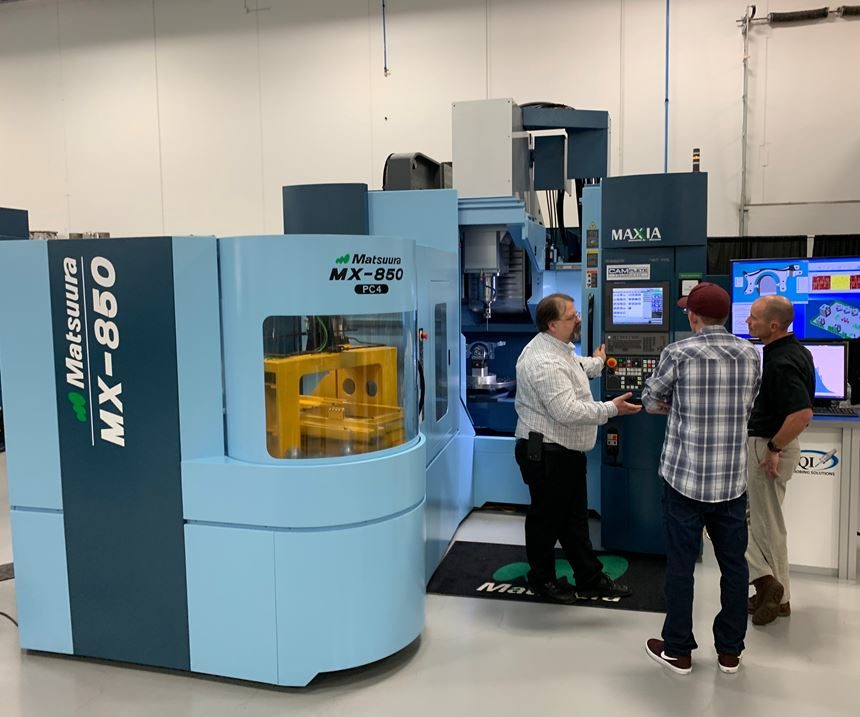 Matsuura five-axis pallet-fed MX-850 machining center