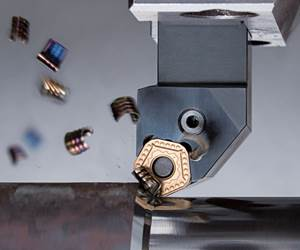 Interrupted Turning Operation Cuts Cost With 10-Sided Insert