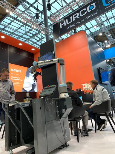 EMO was the first show in which machine tool builder Hurco exhibited with ProCobots, the robotic automation supplier it recently acquired.