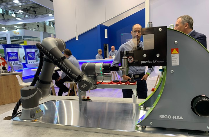 Rego-Fix introduced a new version of its PowRgrip press-fit toolholding system designed to allow a robot to perform assembly and disassembly of toolholder/tool setups