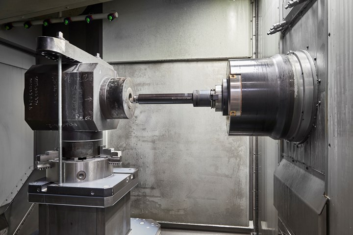 Starrag DBF work spindle in milling position