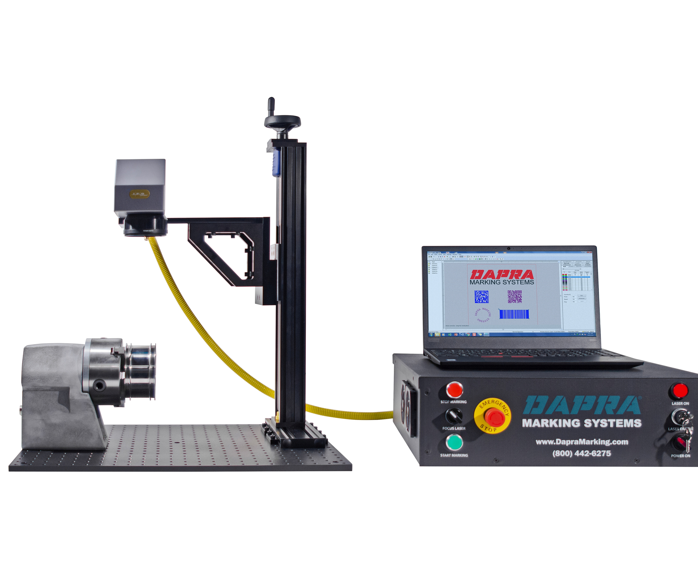 Dapra provides fiber laser marking products.