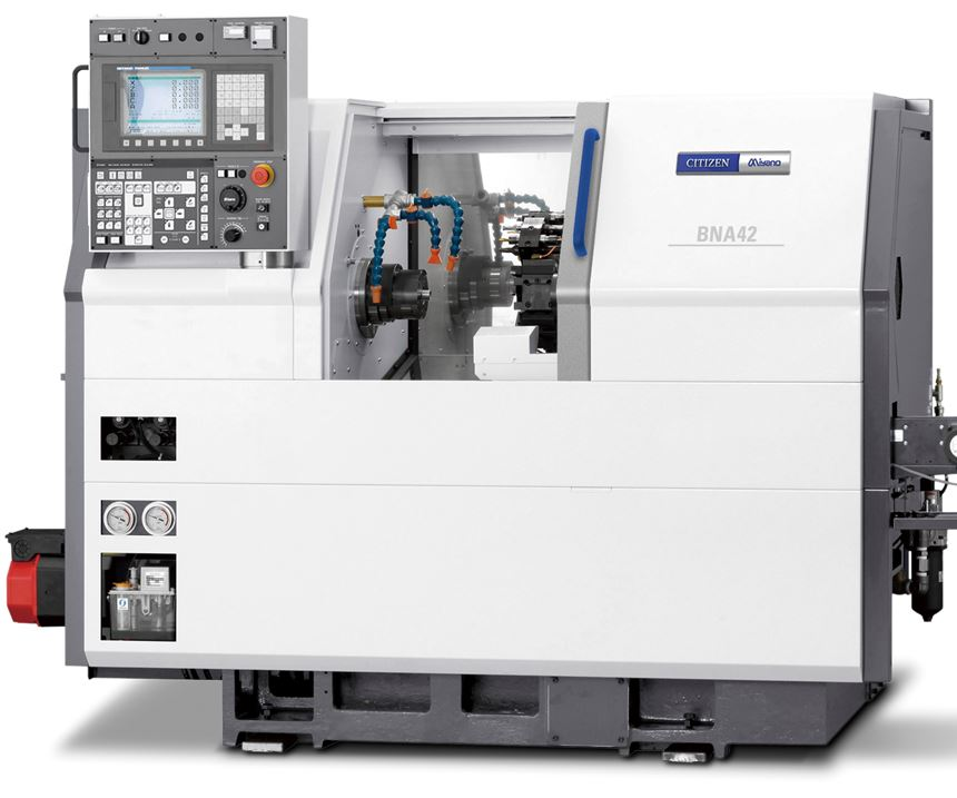 Marubeni Citizen-Cincom's Miyano BNA-42S2 fixed-head CNC lathe.