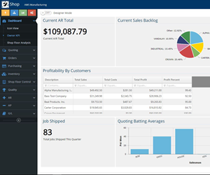 Shoptech's E2 Shop software.