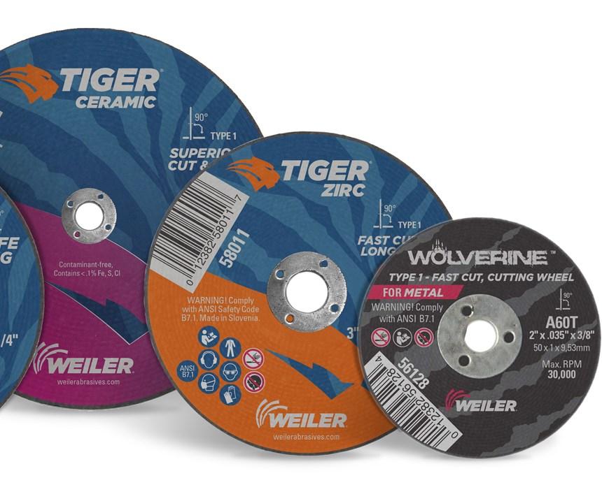 Weiler Abrasives Tiger AO, Tiger Zirc and Tiger Ceramic