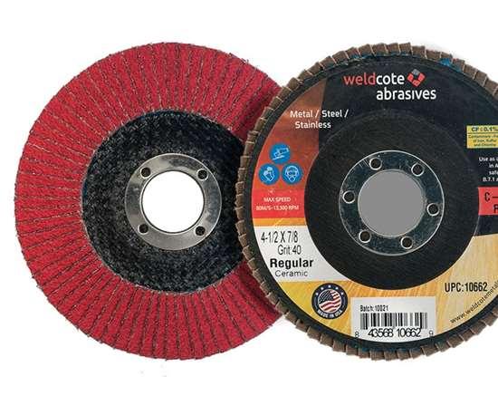 Weldcote C-Prime Plus flap discs