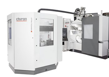 Chiron's Variocell Pallet Pairs with FZ/DZ 16 Five-Axis VMC