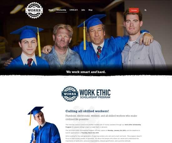 Mike Rowe Works Scholarship website