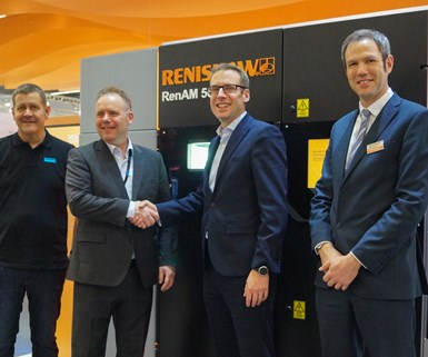 representatives of Renishaw and Sandvik Additive Manufacturing