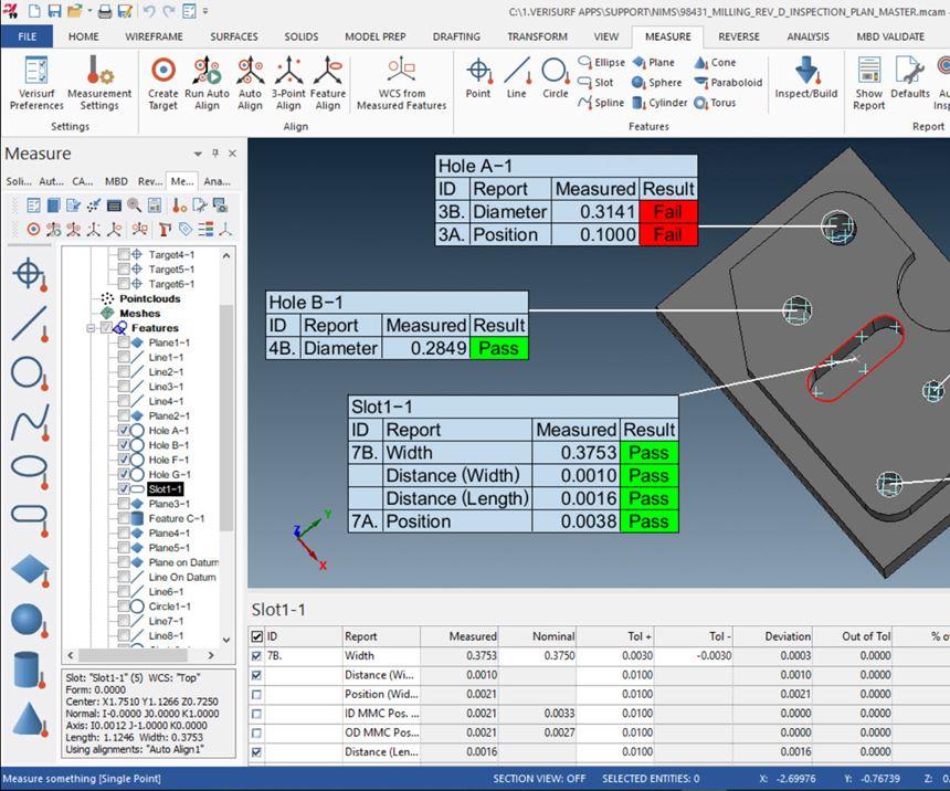 Verisurf Develops Inspection Package For Faster Nims