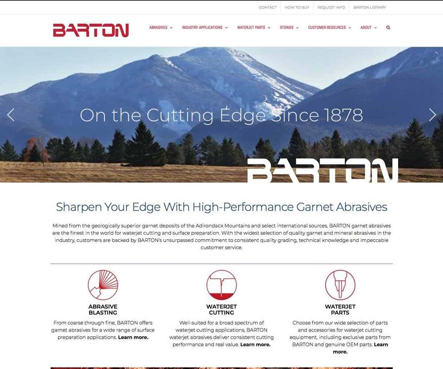 Barton International's redesigned website