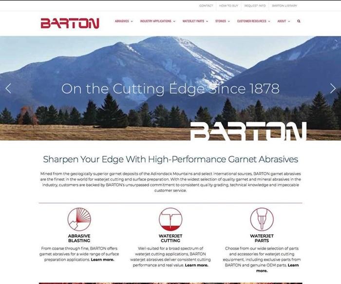 Barton International's redesigned website