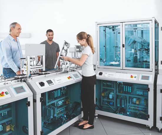 Festo automation with people