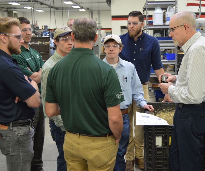 Students visiting Arch Cutting Tools' Ultra-Dex campus.